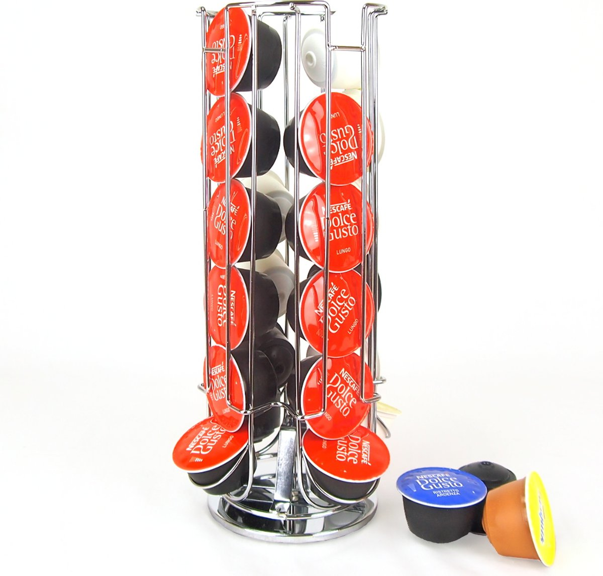 Vannons - Dolce Gusto Capsulehouder - Metaal - Standaard voor Dolce Gusto Koffiecups - Roterend - 24 Capsules - Zilver kopen