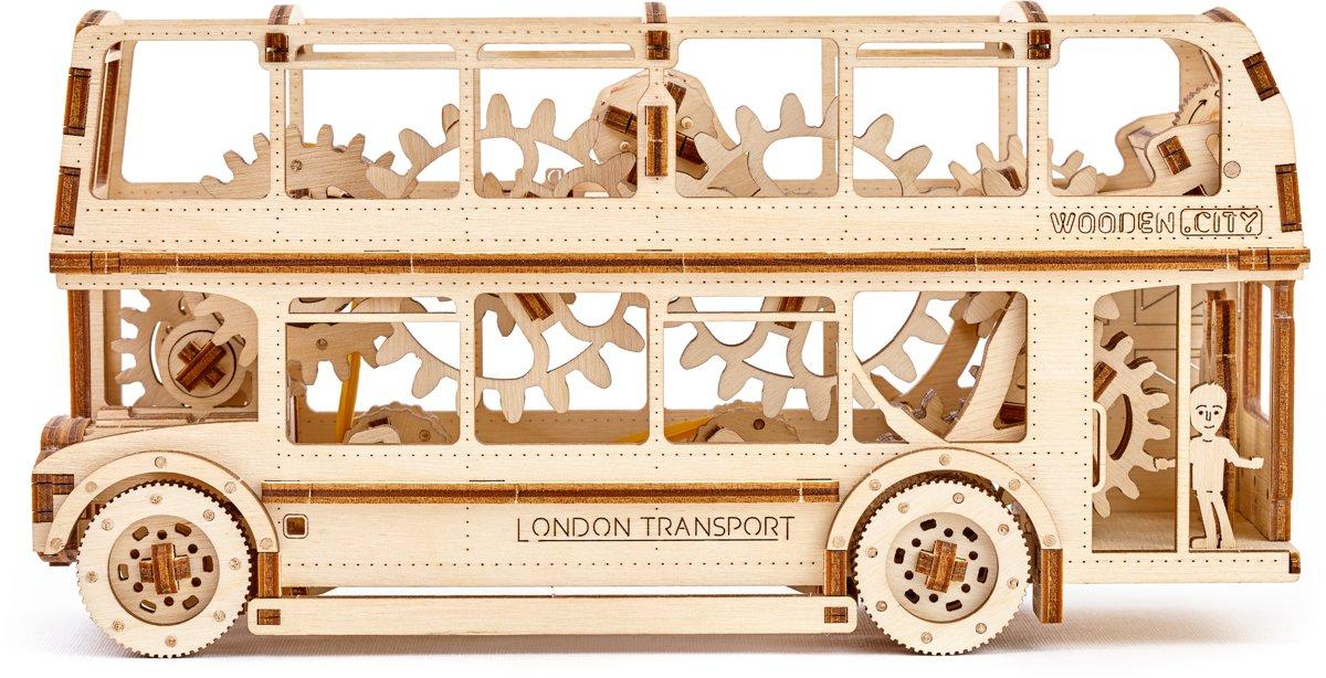 Wooden City Londen Bus - Houten Modelbouw kopen