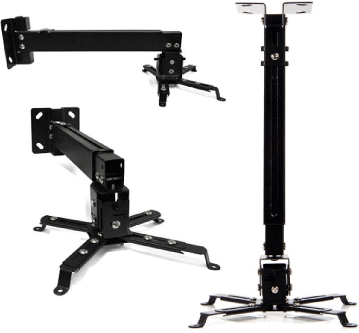 LESHP - in hoogte verstelbare projectorsteun voor plafondmontage voor projectoren met een draagvermogen van 20 kg en een hoogtebereik van 130 mm tot 650 mm kopen