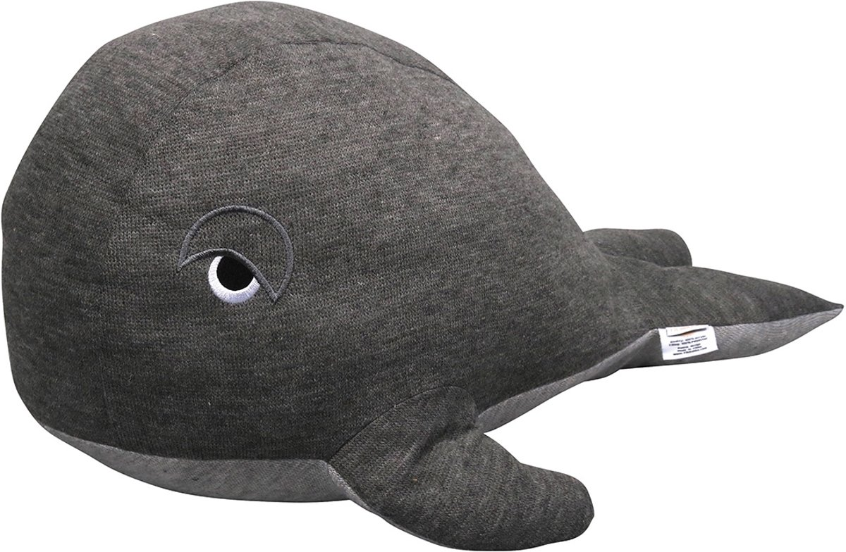Filibabba - Knuffelspeelgoed - Walvis donkergrijs - 30cm