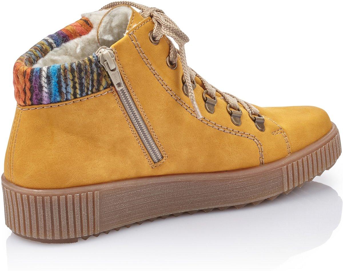 Rieker dames sneaker Geel Maat 37