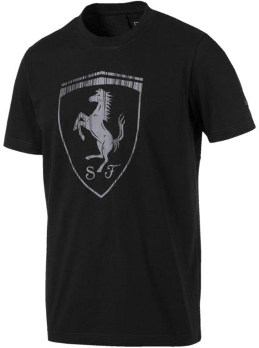 PUMA Ferrari Big Shield Tee Heren - Puma Black
