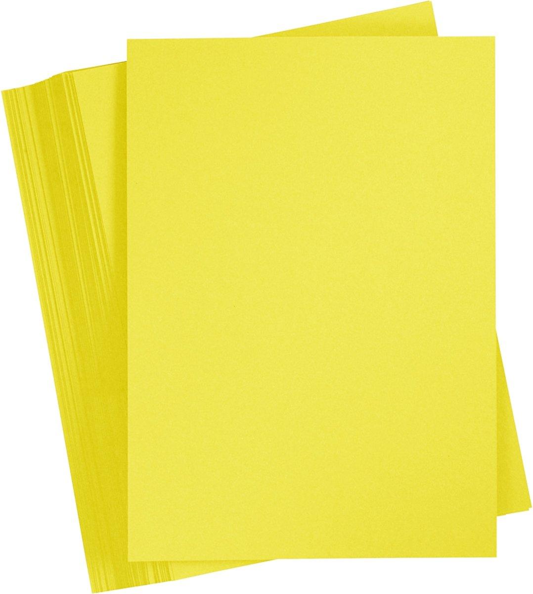 Gekleurd Karton, A4 210x297 mm, sun yellow, 100 vellen kopen