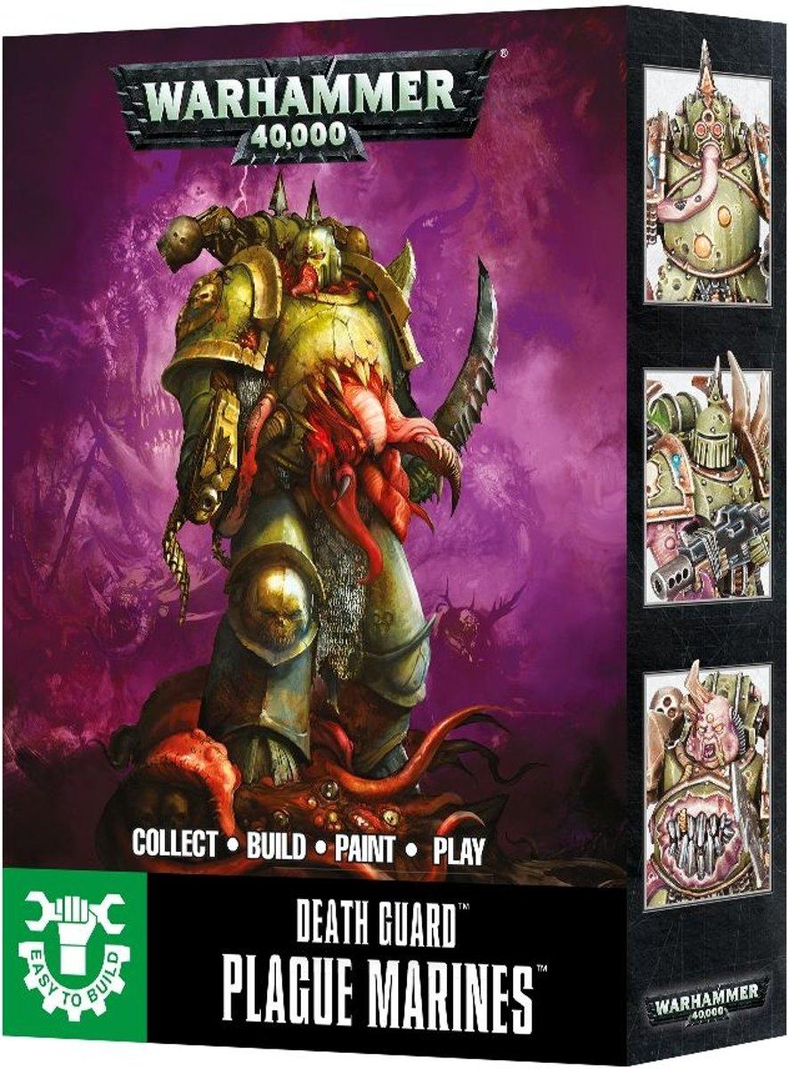 Warhammer - Easy to build - plague marines- 3 miniaturen