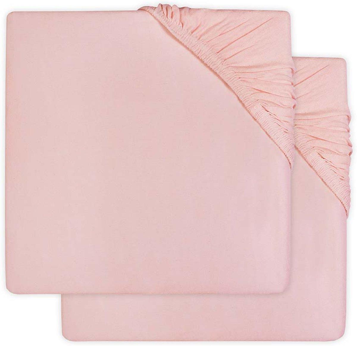 Jollein Hoeslaken jersey 60x120cm soft pink (2pack)