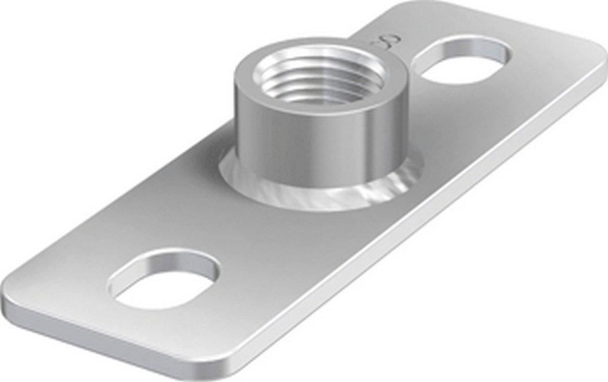 FLAM grondplaat v/beugelbev GPS, staal, (bxlxh) 40x120x19mm, el verz kopen