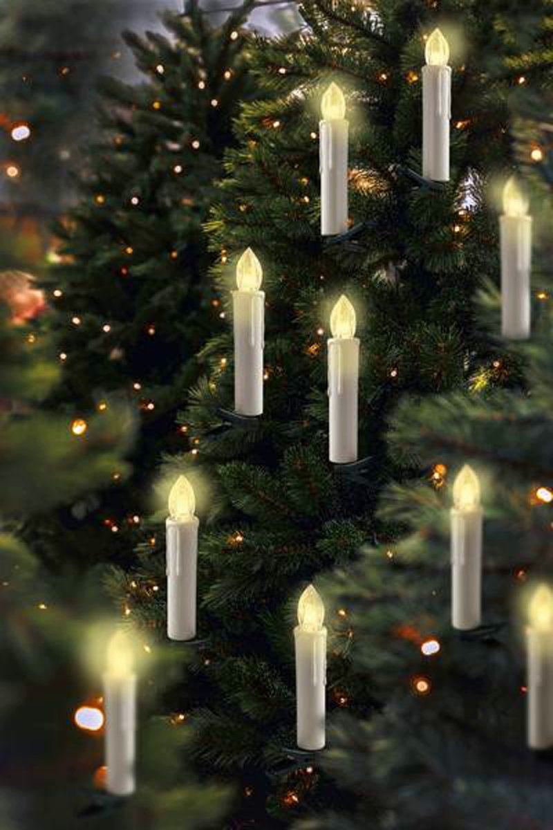 Draadloze kerstboomverlichting voor binnen - 20 stuks LED Warm-wit (werkt op batterijen) kopen