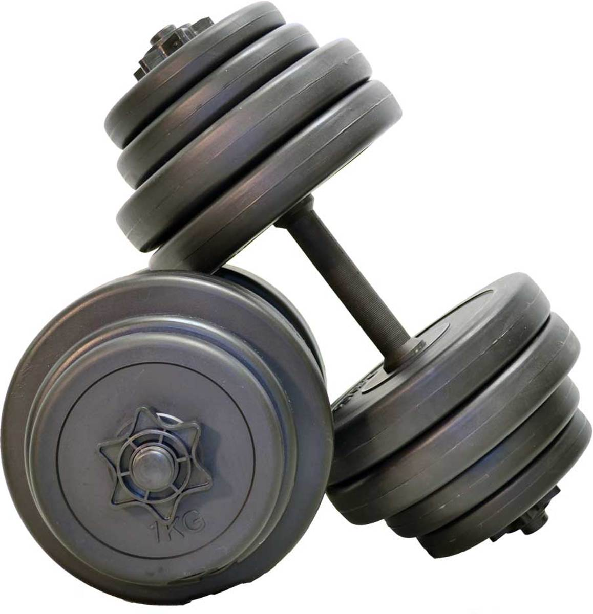 Verstelbare Dumbbellset - Focus Fitness - 2 stuks van 15 kg - Totaal: 30 kg kopen