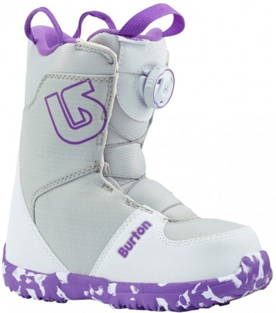 Burton Grom Boa kinder snowboardschoenen white/purple kopen