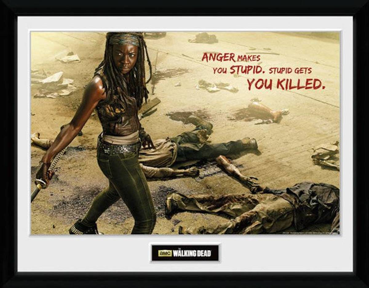 Merchandising THE WALKING DEAD - Collector Print 30X40 - Michonne Kill kopen