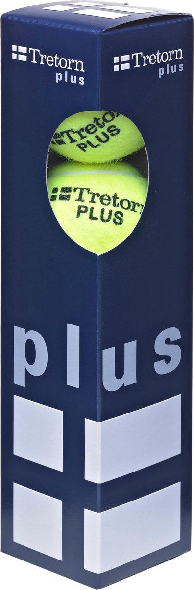 Tretorn Plus - Tennisballen - 4 stuks - Geel kopen