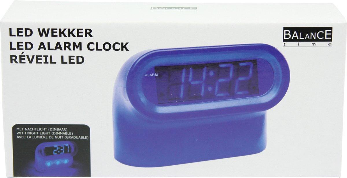 Wekker Met Licht : Bol.com balance time wekker led blauw