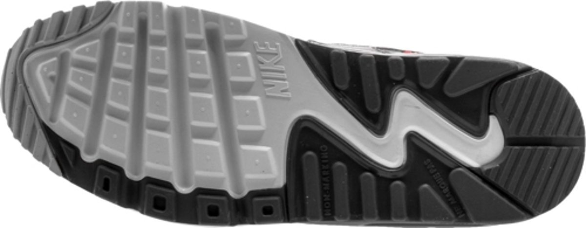 Nike Air Max 90 GS Leer Kinder Sneakers Grijs Lichtgrijs Oranje 833376 006 Maat 38