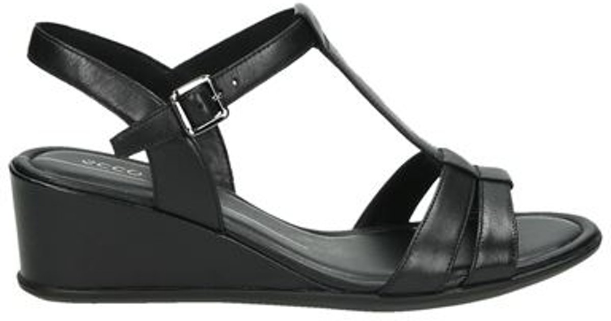 | ECCO Shape 35 wedge dames sandaal Zwart Maat 39