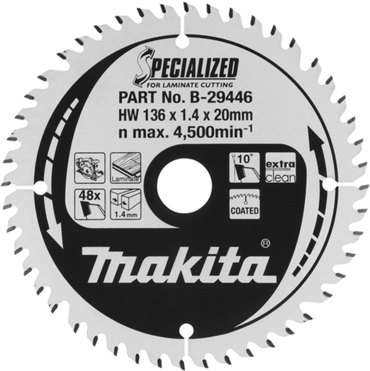 Makita B-53724 Zaagb Lami 165x20x1,45 44T 23g