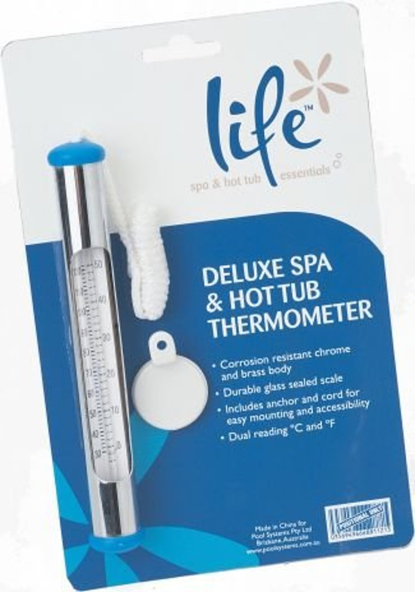 Life luxe chrome thermometer