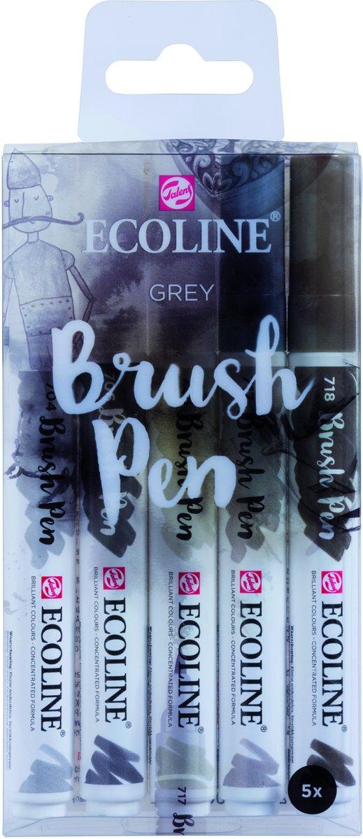 Talens Ecoline 5 brush pens Grey
