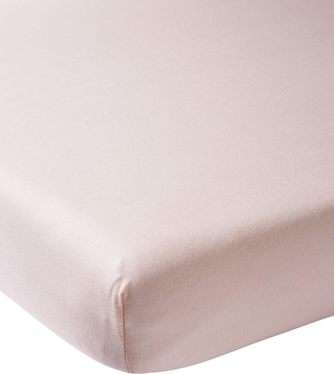 Meyco jersey hoeslaken boxmatras - 75x95 cm - lichtroze