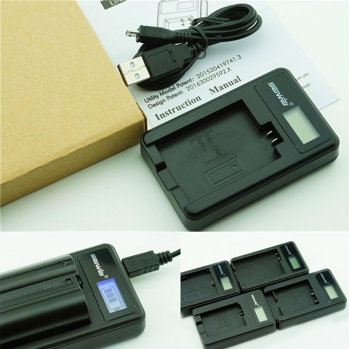 PATONA LCD USB Ladegerät für Akku CGR CGA S006 CGA S006E