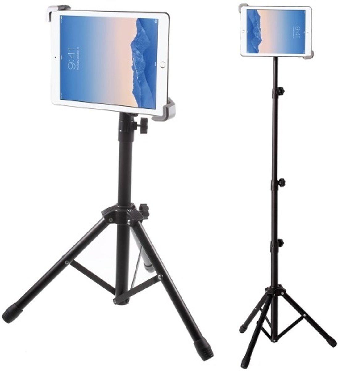 Cacious Universele Tablet Tripod Houder - Muziek Standaard/Lessenaar met verstelbaar Statief o.a. voor iPad en Samsung Galaxy Tab