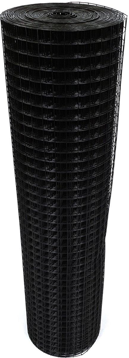 volieregaas 25 x 25mm 1,45mm 100cm x 25m zwart