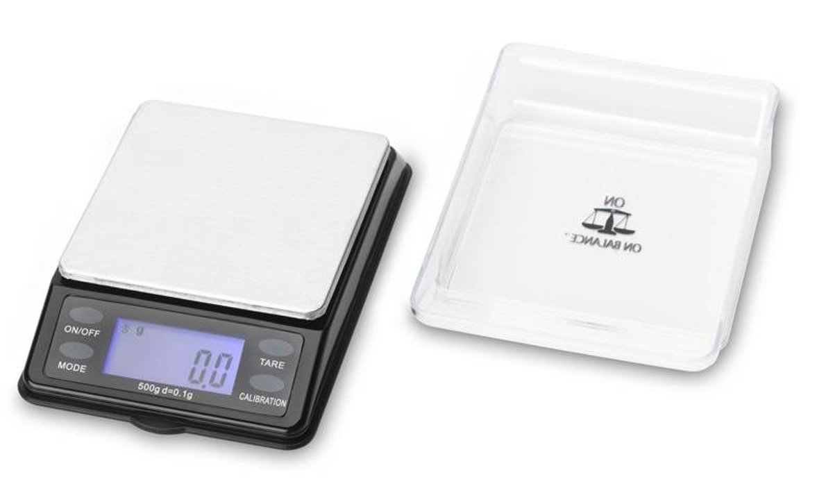 On Balance Professionele Mini precisie Tafel weegschaal 0.1 gram nauwkeurig tot 500 gram