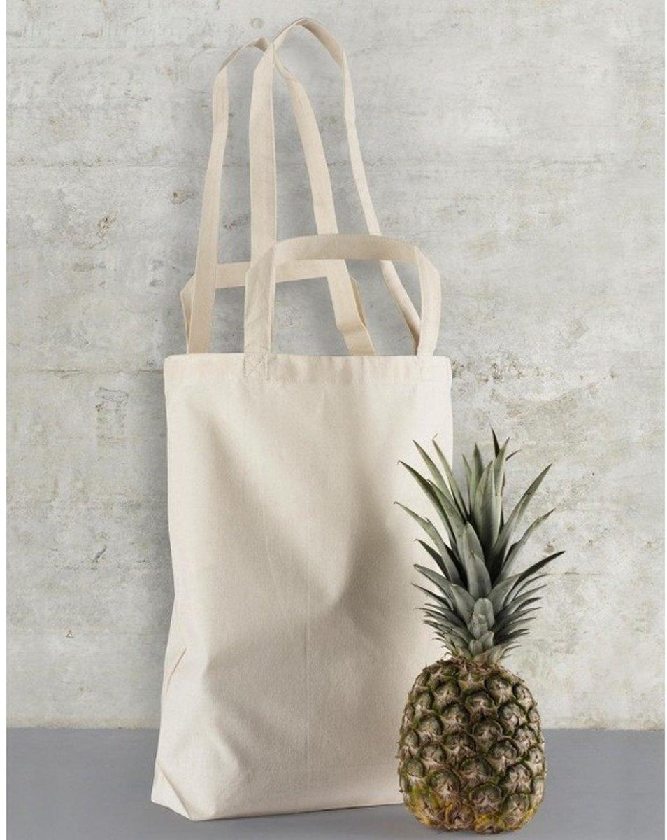 a2951ddc8fa bol.com | Beige canvas tas met dubbel hengsel 38 x 42 cm- Bedrukbare katoenen  tas/shopper
