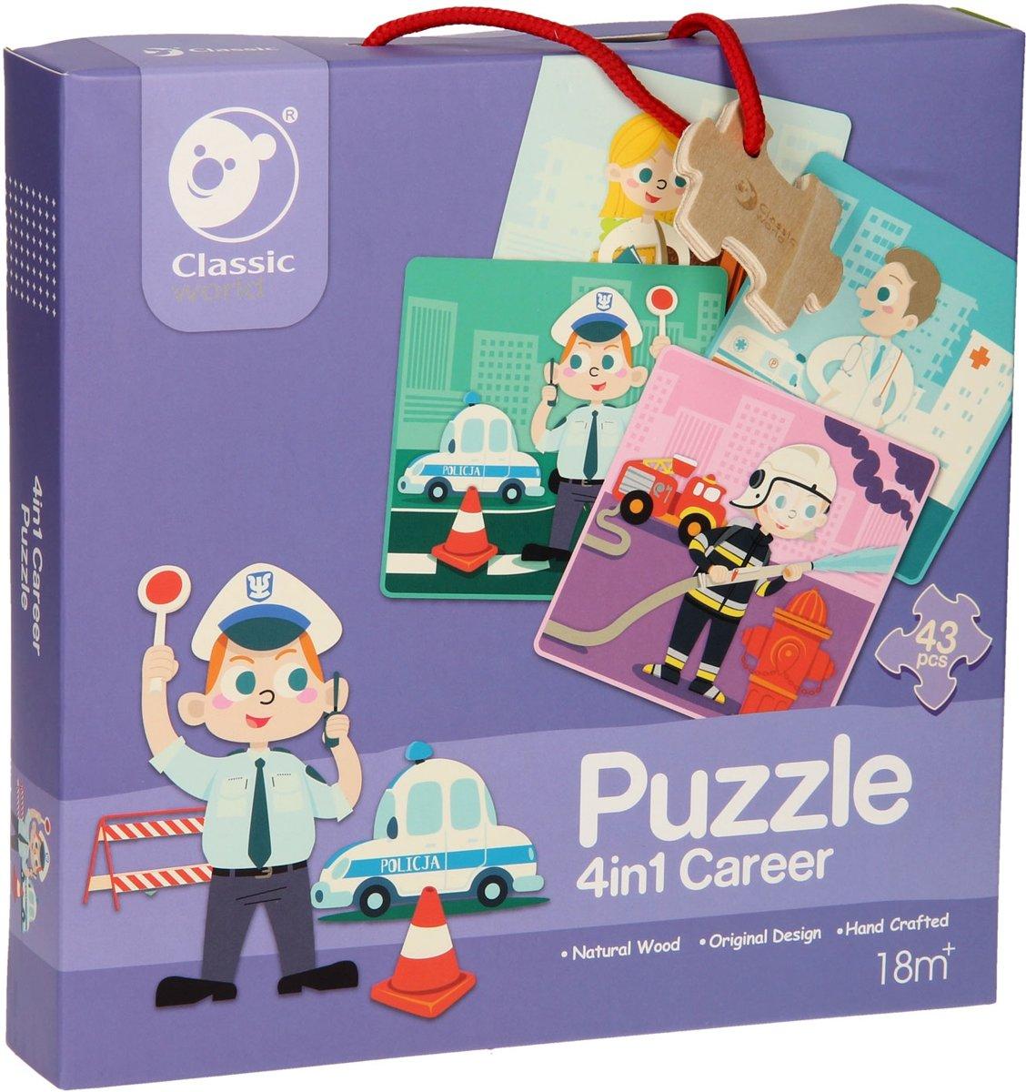 Classic World Houten Puzzel Beroepen, 4in1 kopen
