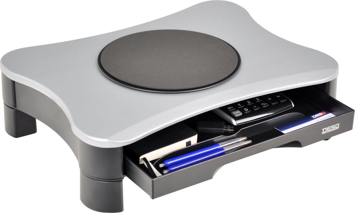 DESQ Monitorsteun met draaiplateau en lade kopen