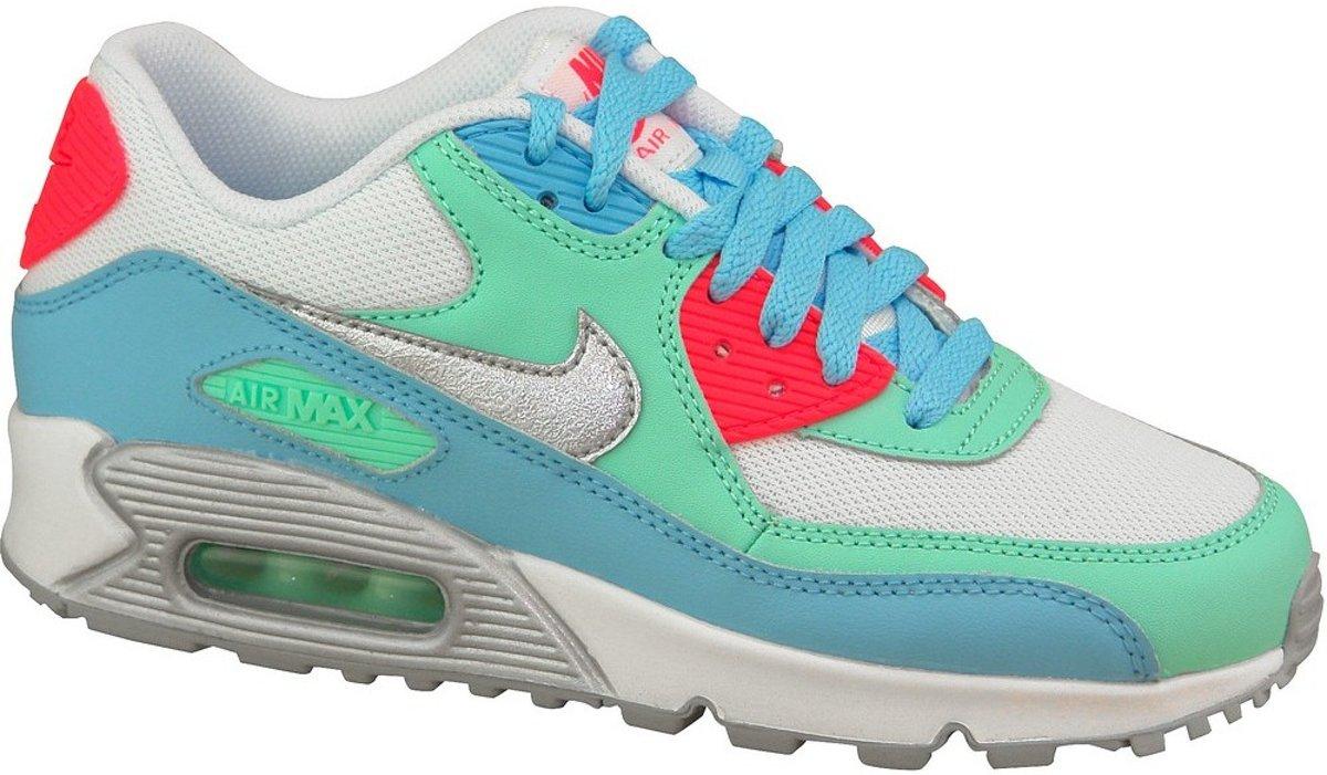 Nike Air Max 90 Sneakers Kinderen witblauwgroenoranje