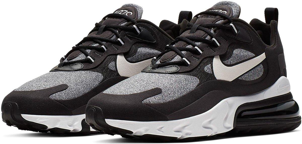 Nike Air Max 270 React Sneakers Maat 43 Mannen zwartgrijs