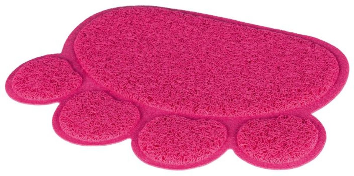 Trixie Kattenbak mat pootafdruk roze 40 x 30 cm kopen
