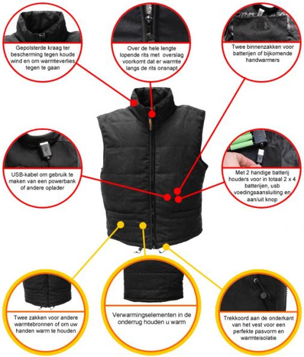 808315158c1 bol.com | Warmawear™ Verwarmd Vest met Kraag voor Haar- L -Verwarmde jas