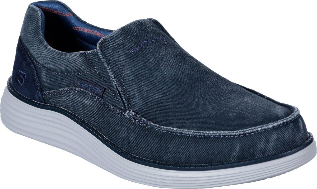 Skechers Status 2.0 Mosent Instappers Heren Blue Maat 41