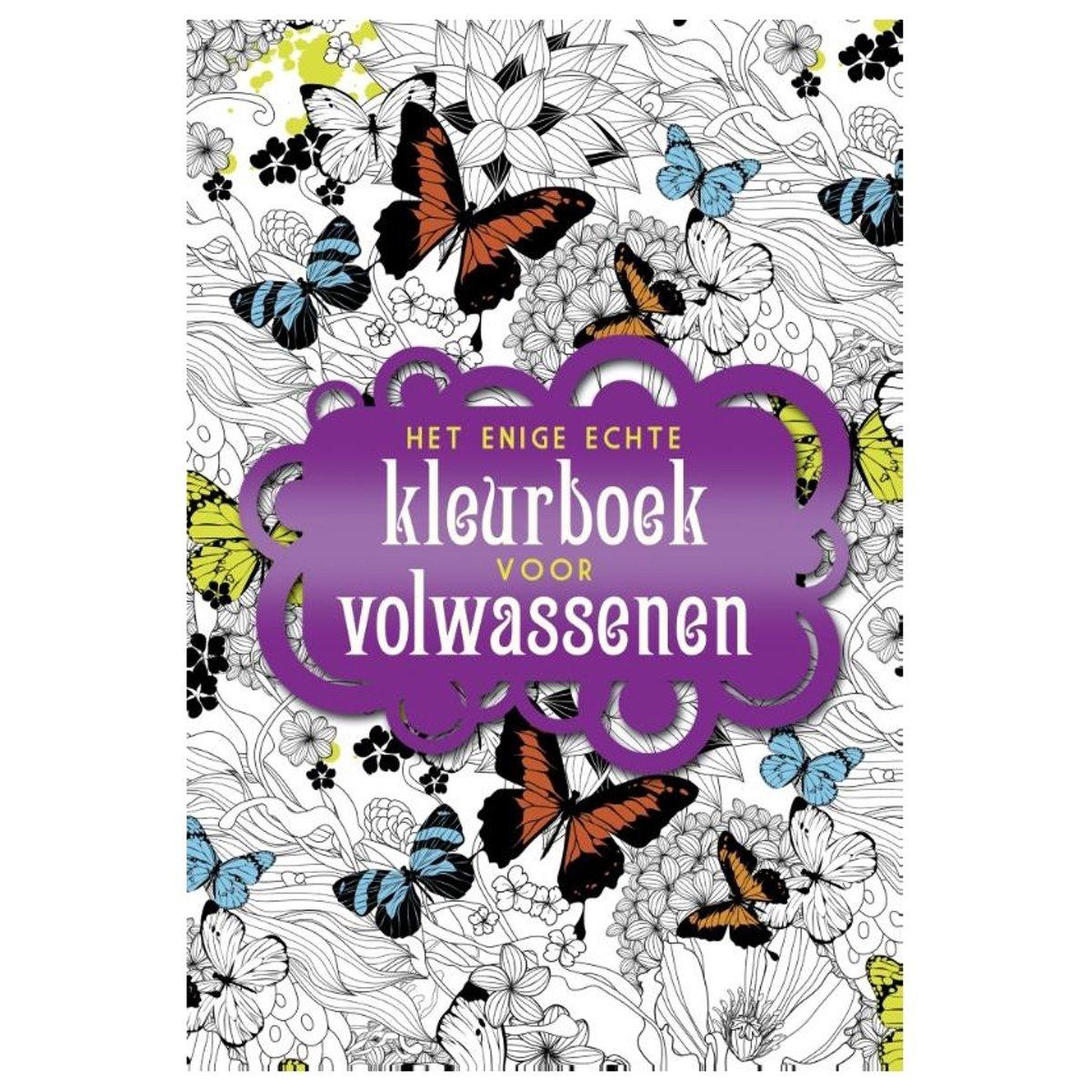 Kleurplaten Uit Kleurboek Voor Volwassenen.Bol Com Het Enige Echte Kleurboek Voor Volwassenen Diverse