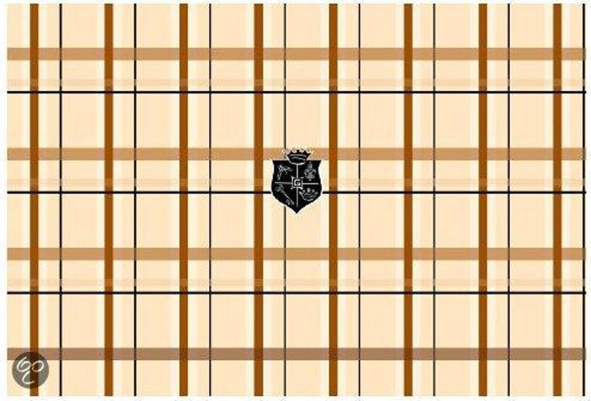 Mad for Plaid, Trim to Fit Notebook Skin 19 inch (Beige)