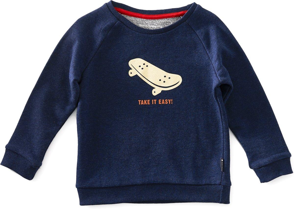 4bd429beb03 raglan sweater baby jongens - blue melee skate