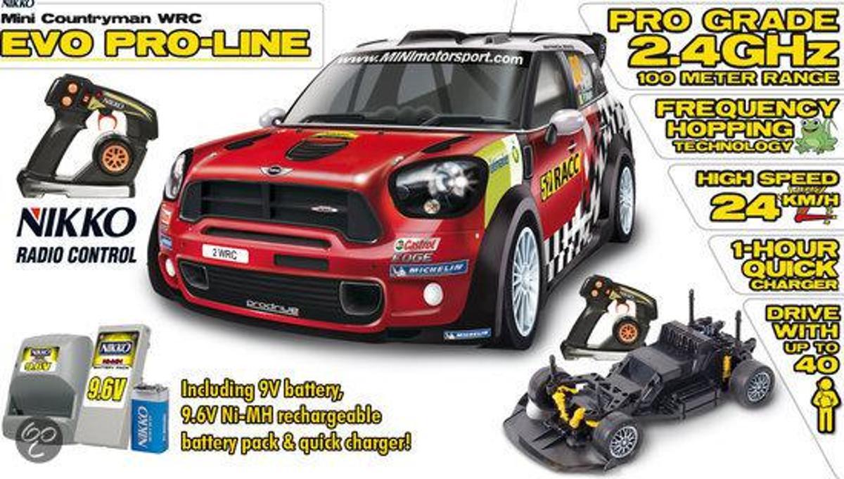 Nikko Mini Countryman WRC Evo 1:14 - Bestuurbare auto