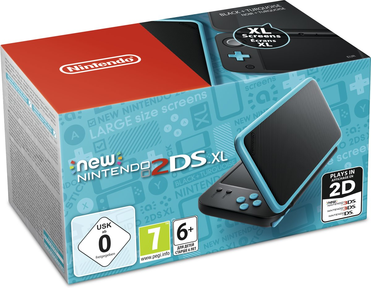 New Nintendo 2DS XL Console - Zwart/Turquoise voor €129