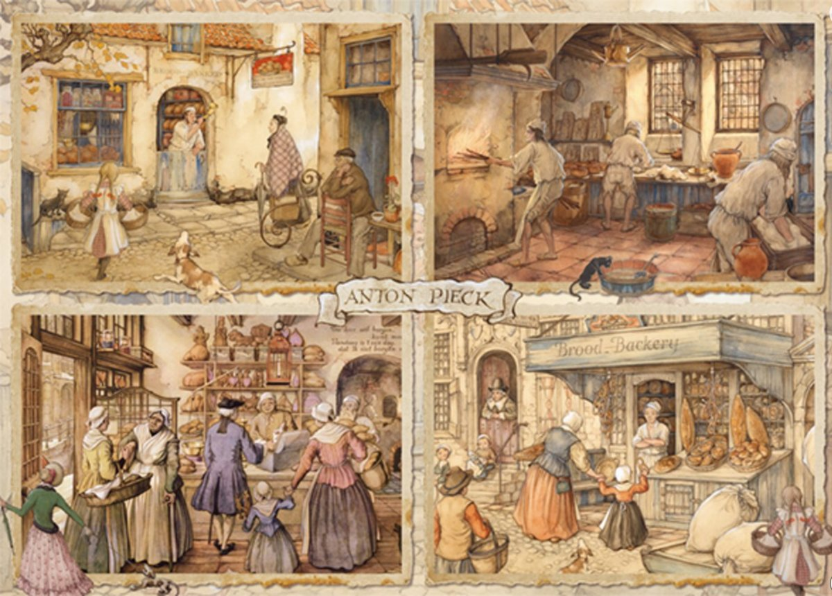 Anton Pieck Bakers From the 19th Century Premium Collection Puzzel 1000 Stukjes