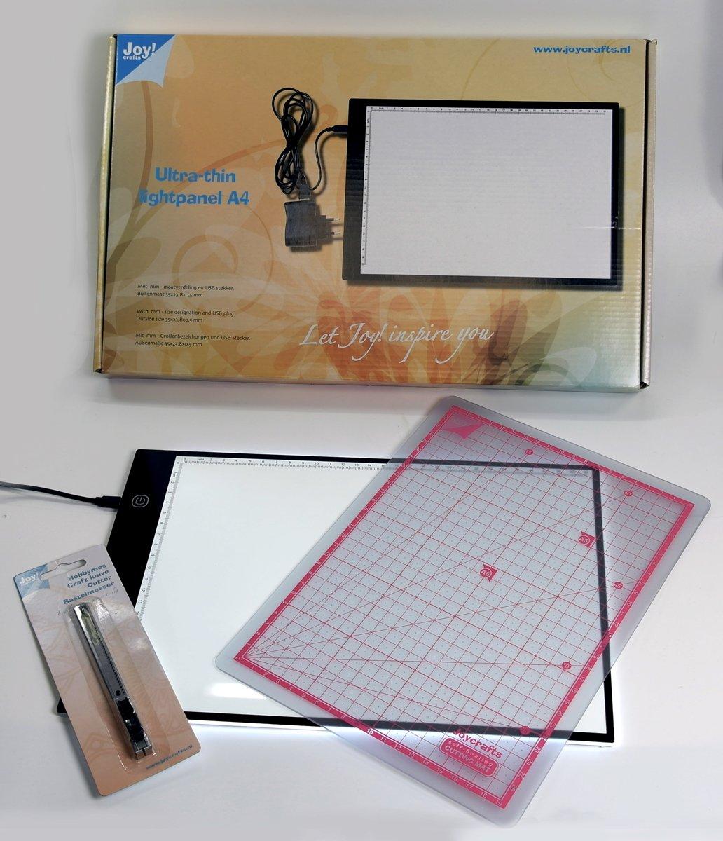 Joycrafts Lichtpaneel / Lichtbak dimbaar A4 met gratis mat en snijmes 1000/0001 kopen