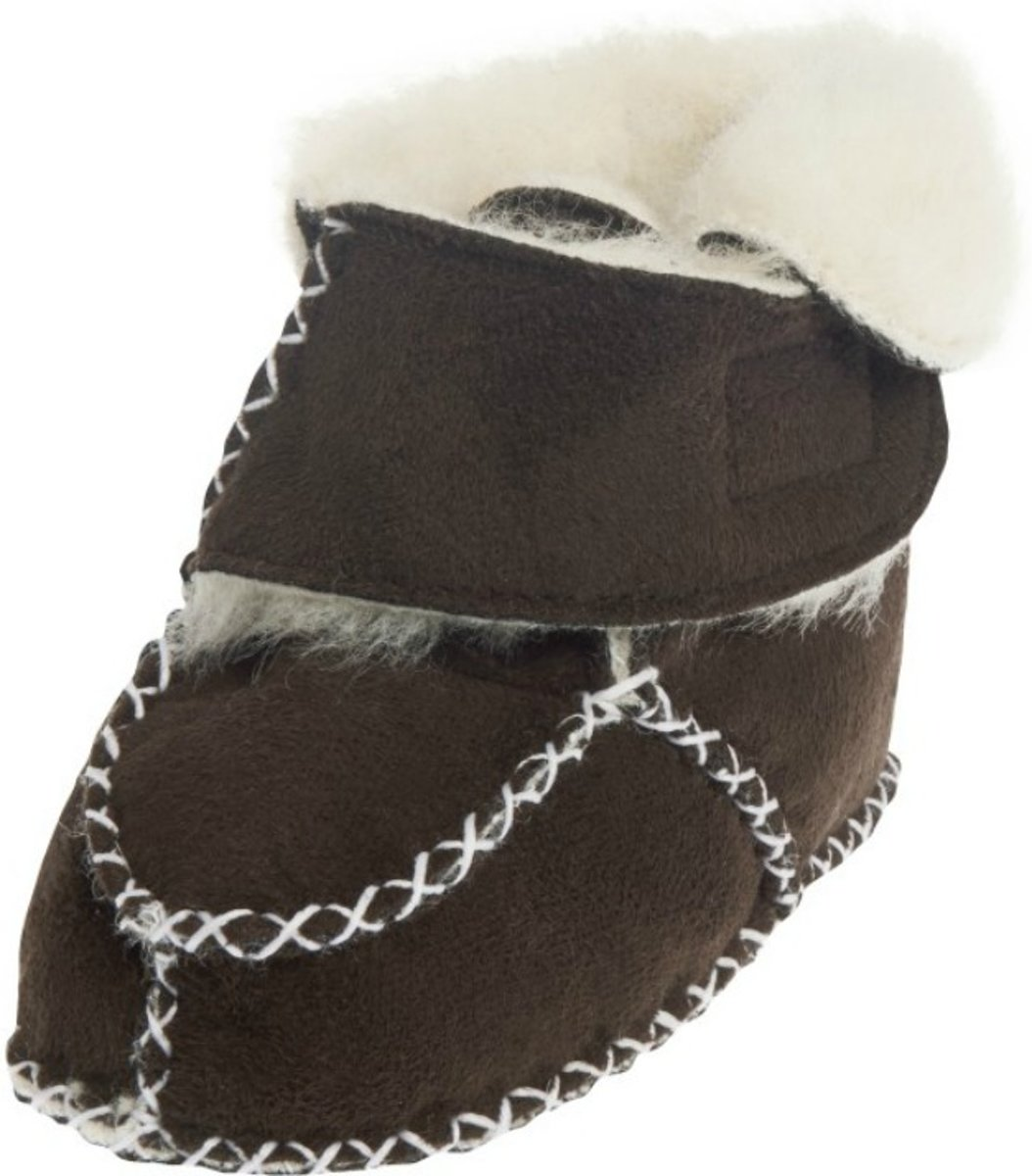 Playshoes babyslofjes klittenband donkerbruin kopen