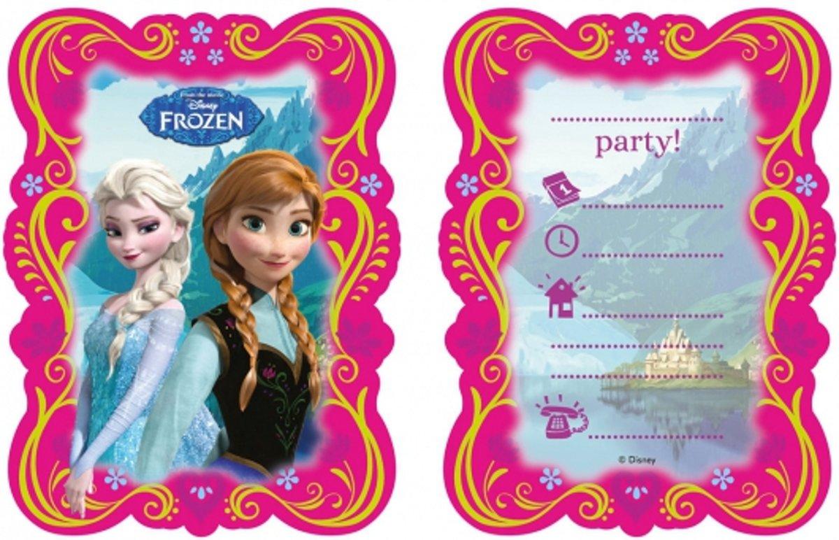 12x Disney Frozen uitnodigingen - thema feest uitnodigingen