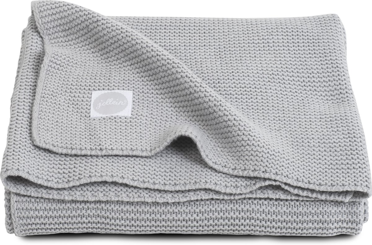 Jollein Basic knit Deken - light grey (100x150cm)