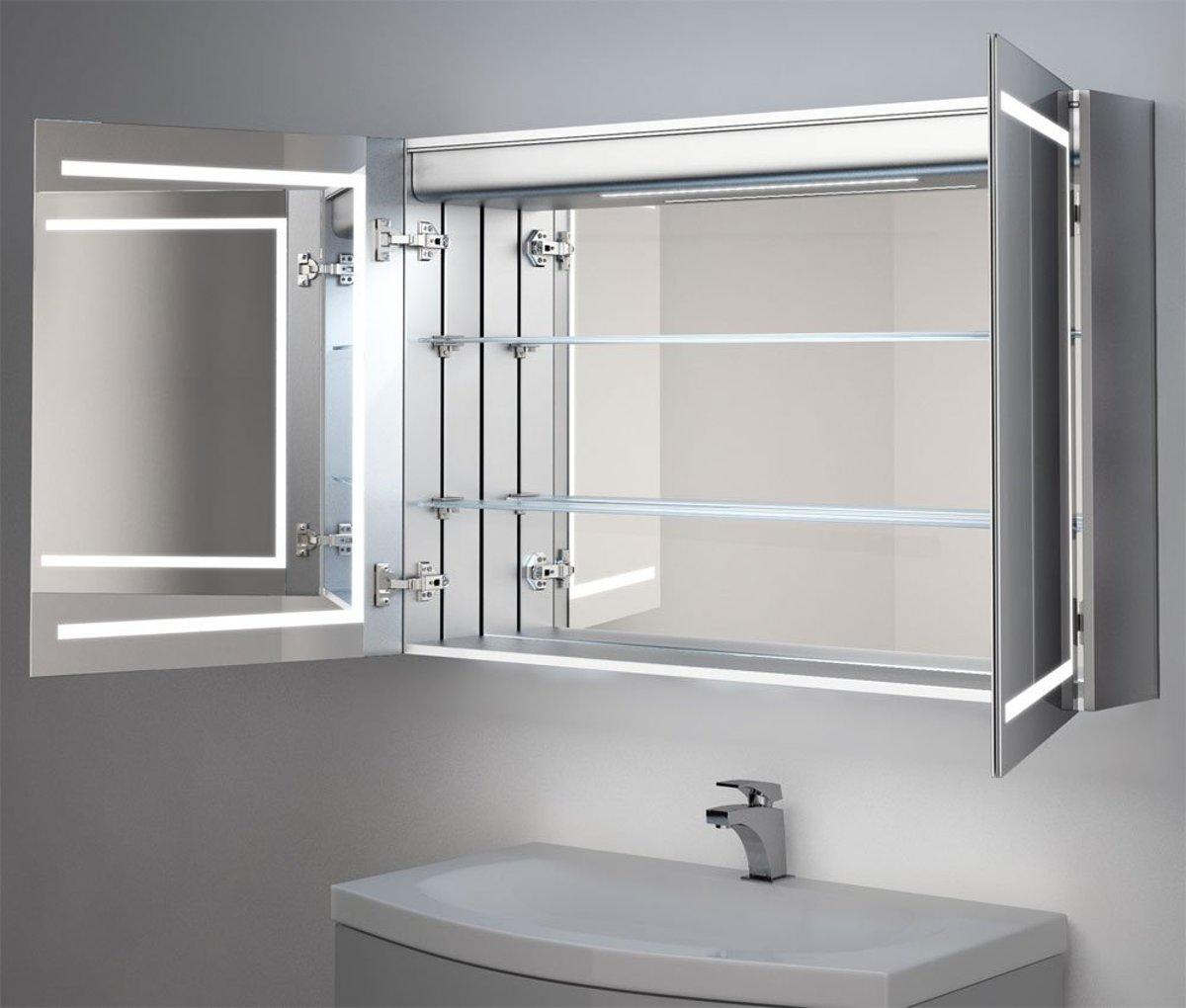 Hoge Spiegelkast Badkamer : Bol.com 90 cm brede badkamer spiegelkast met hoge lichtopbrengst