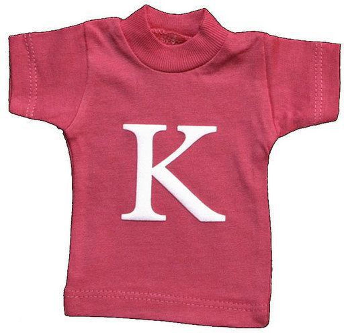 Lettershirts roze K