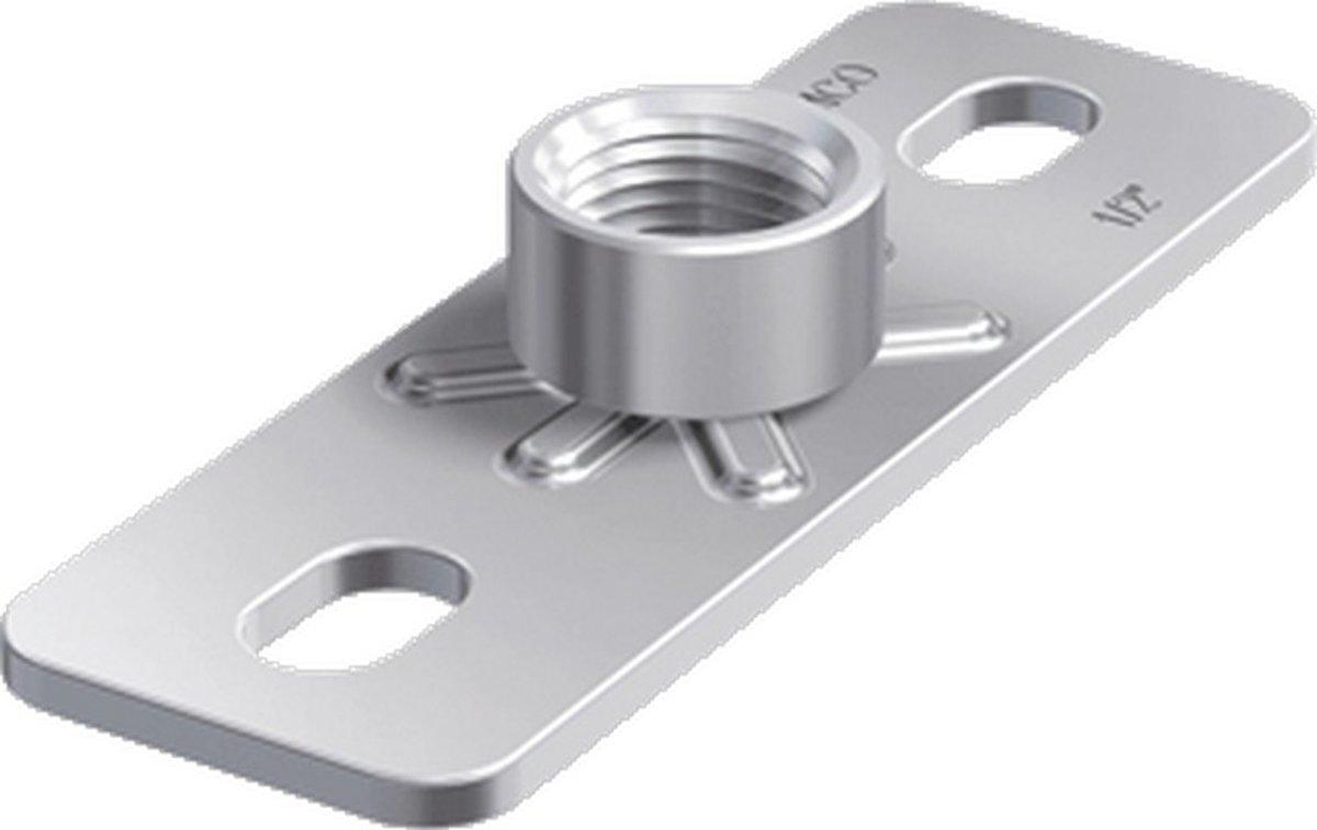 FLAM grondplaat v/beugelbev GP, staal, (bxlxh) 85x120x14mm, el verz kopen