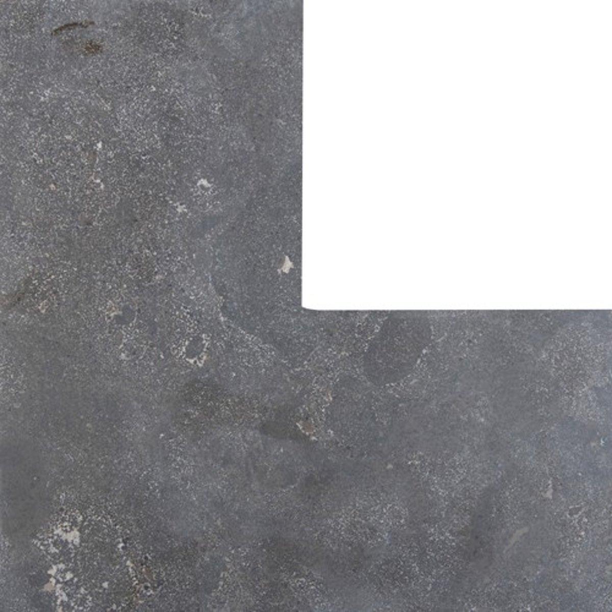 Asian blauw facet hoek 3x20x40/40 cm