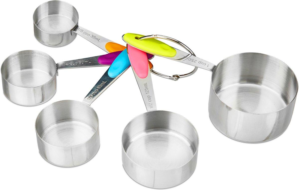 Maatlepel set RVS – Maatcupjes - Ml en cups - Set van 5 kopen