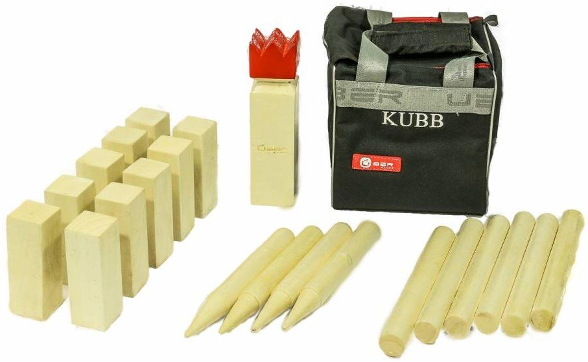 Kubb, Portable top-set , incl. stevige tas --Kubb